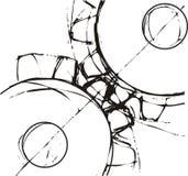 колеса cog инволютные Стоковые Фото