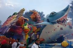 Колесница на параде масленицы города Вероны Стоковые Фотографии RF