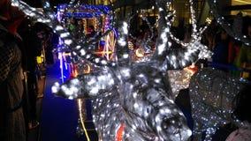 Колесница ` s Санты с Рождеством Христовым декабрь 2017 стоковое фото