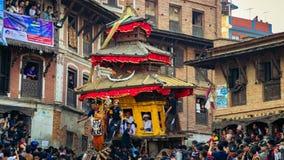 колесницы BISKET JATRA стоковое изображение
