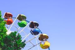 колесо вектора парка ночи ferris занятности цветастое колесо ferris Стоковое Фото