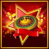колесо вектора рулетки предпосылки красное Стоковое Фото
