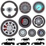 колесо вектора управления рулем автомобиля Стоковые Изображения