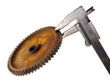 колесо выщербленное крумциркулем ржавое Стоковые Изображения RF