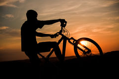 колесо захода солнца Стоковые Фото