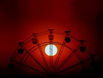 колесо захода солнца Стоковая Фотография RF