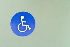 колесо знака стула Стоковая Фотография
