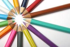 колесо карандашей Стоковые Изображения