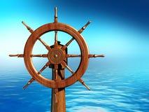 колесо корабля иллюстрация штока