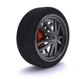 колесо крома славное Стоковое Фото