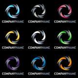 колесо логоса конструкции установленное Стоковые Изображения