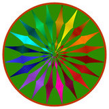 колесо мандала цвета Стоковые Фотографии RF