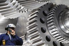 колесо машинного оборудования шестерни инженера Стоковые Изображения RF