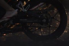 Колесо мотоцикла стоковое фото rf