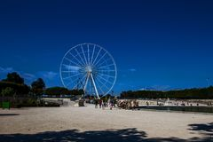 Колесо на месте de Ла конкорд Парижа Стоковое Изображение