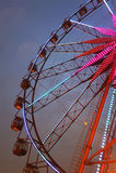 колесо ночи ferris стоковая фотография rf