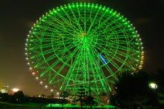 колесо ночи ferris стоковое фото