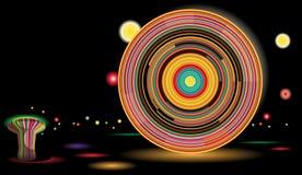колесо парка ночи ferris занятности Стоковые Фото
