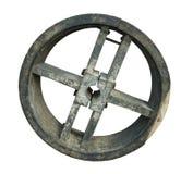 колесо прессформы ременной передачи старое деревянное Стоковые Фотографии RF