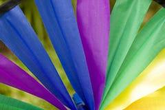 колесо радуги ткани стоковые изображения rf