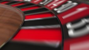 Колесо рулетки казино ударяет нул сток-видео