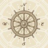 колесо сбора винограда корабля Стоковые Изображения