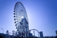 колесо силуэта ferris Стоковое Изображение RF