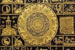колесо символа Будды Стоковое фото RF