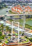 Колесо Сингапура Ferris стоковые изображения rf