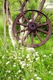колесо стародедовской принципиальной схемы старое Стоковое Изображение