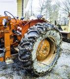 Колесо трактора стоковые изображения