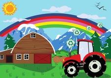 колесо трактора Стоковое фото RF
