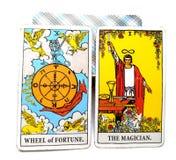 Колесо фортуны карточки рождения Tarot волшебник бесплатная иллюстрация