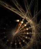 колесо фрактали золотистое иллюстрация штока