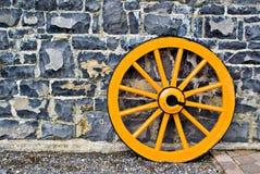 колесо фуры деревянное Стоковое Изображение