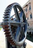 колесо шестерни шестерни для подниматься нагружает Стоковое Фото