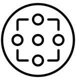 Колесо шлюпки, перекрестие изолированный значок вектора который можно легко доработать или отредактировать иллюстрация штока
