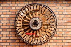 колесо деревянное Стоковое Фото