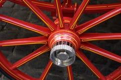 колесо barouche покрашенное Стоковые Фотографии RF