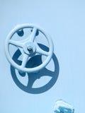 колесо faucet промышленное ржавое стоковая фотография