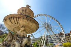 Колесо ferris Будапешт глаза Будапешта Венгрия Стоковое Изображение