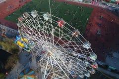 Колесо ferris города стоковое изображение rf