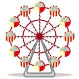 Колесо Ferris изолированное на белой предпосылке Стоковое фото RF