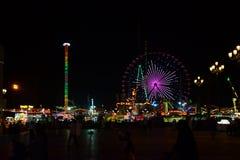 Колесо Ferris на парке атракционов Дубай глобальной деревни Стоковое фото RF