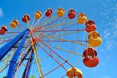 Колесо Ferris на предпосылке голубого неба Стоковая Фотография