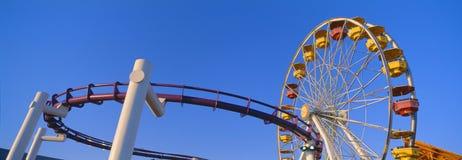 Колесо Ferris на пристани Santa Monica, Стоковое Изображение RF