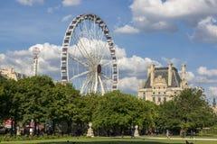 Колесо Ferris на саде Тюильри в Париже Стоковое Изображение