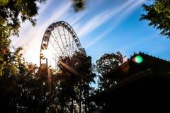 Колесо Ferris на солнечный день стоковые фото