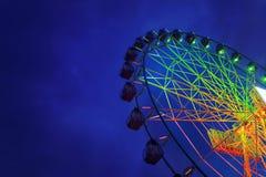 Колесо Ferris на nighttime Стоковое Фото