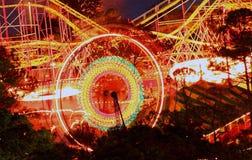 Колесо Ferris парка пристани стоковое фото